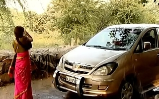 ---indian village bhabhi cleaner car..{uncut ex...