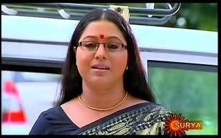 Mallu Serial Actress Lakshmi Priya Omphalos Flick through Saree