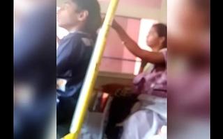 Telugu aunty omphalos show in bus