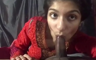 Hot Indian sexy get hitched suck her husband cock