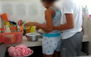Indian Brother Sister shafting in Kitchen