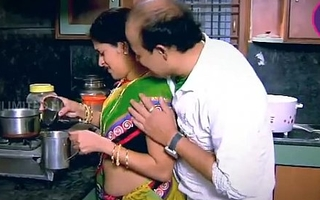 Indian Housewife Tempted Old egg Neighbour uncle in Cookhouse - YouTube.MP4