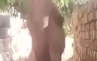 indian oldman showing in the first place cam