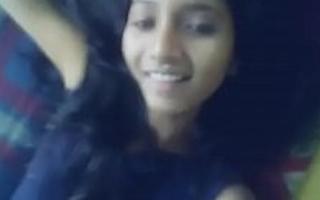 Indian girl shows their way elegant black ajar arse MMS