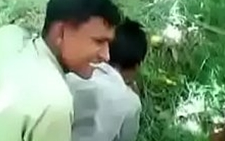 Indian Str8 Boy Playing Around In The Bushes