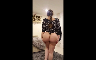 My fake buttocks US Indian gf in thong in niche (loop)