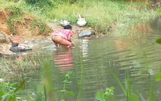 Desi aunty irrigation